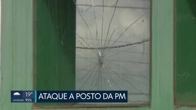 Casal é preso suspeito de ataque a posto da PM - Posto foi alvo de tiros. De acordo com a PM, o casal estava em um carro e a mulher dirigia embriagada. Confira outras imagens deste sábado.