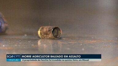 Morre agricultor baleado em assalto à propriedade rural em Missal - Segundo a polícia, ele reagiu e levou 5 tiros