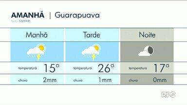 Domingo (04) ainda deve ser de chuva na região de Guarapuava - Para a próxima semana o sol aparece nas cidades da região.