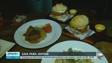 Festival 'Saia para Jantar' tem 84 pratos a partir de R$ 19,90 em São Carlos - Evento gastronômico vai até 9 de dezembro em 29 estabelecimentos.