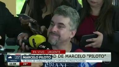 Traficante Marcelo Piloto confessa homicídio, mas diz que foi inocentado pelo crime - Preso desde dezembro do ano passado, o criminoso concedeu coletiva de imprensa de dentro de um presídio no Paraguai