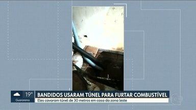 Polícia ainda não encontoru bandidos que desviavam combustível - Eles fizeram túnel de 30 metros em casa da zona leste e fugiram antes da chegada da polícia.
