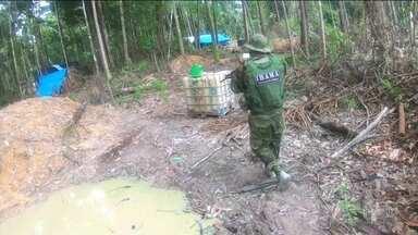 Ibama fecha garimpos clandestinos no Pará - Operação fechou garimpos clandestinos dentro de parques Nacionais