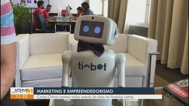 Consultor Carlos Oshiro acompanha maior encontro de marketing digital do país - Evento acontece em Florianópolis