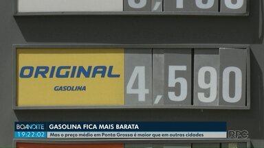Gasolina fica mais barata em Ponta Grossa - O litro do combustível teve uma redução de 10 centavos nos últimos dias.