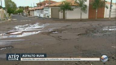 Chuvas pioram situação do asfalto em vários trechos esburacados em Ribeirão Preto - Motoristas têm dificuldade em circular pela cidade.