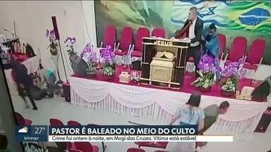 Pastor é baleado durante culto em Mogi das Cruzes - Atirador foi preso e Polícia investiga a motivação do crime. Pastor está internado e não corre risco de vida.