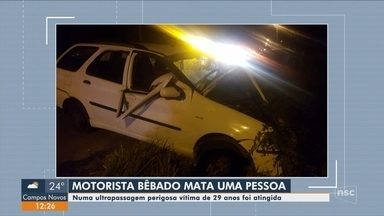Motorista embriagado é preso após causar acidente com morte em Içara - Motorista embriagado é preso após causar acidente com morte em Içara