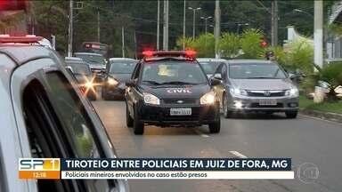 Presos policiais mineiros envolvidos em tiroteio em Juiz de Fora - Caso no dia 19 de outubro envolveu também policiais paulistas. Duas pessoas morreram.