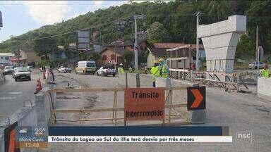 Obra do elevado do Rio Tavares provoca interdição de faixas de trânsito por três meses - Obra do elevado do Rio Tavares provoca interdição de faixas de trânsito por três meses
