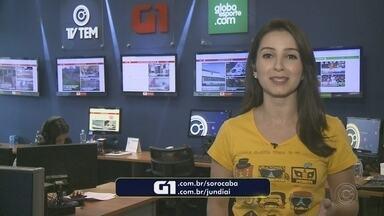 Mayara Corrêa traz os destaques do G1 Sorocaba e Jundiaí desta segunda-feira - Confira os destaques do G1 Sorocaba e Jundiaí (SP) desta segunda-feira (12) com a repórter Mayara Corrêa.