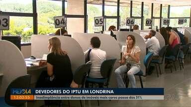 Inadimplência do IPTU em Londrina aumenta nos dois extremos - Levantamento da Prefeitura aponta que pobres e ricos são os maiores devedores do imposto