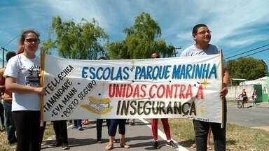 Escolas do bairro Parque Marinha são alvo de vândalos em Rio Grande - Alunos e professores realizaram protesto no fim de semana pedindo mais segurança e compreensão da comunidade.