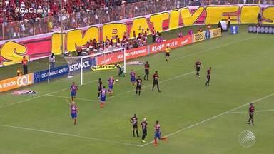 Vitória empata com Bahia e continua dentro do Z-4 pelo Campeonato Brasileiro - No jogo de volta, apenas os torcedores rubro-negros compareceram no estádio.