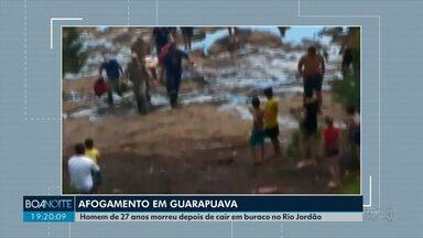 Homem morre depois de se afogar no Rio Jordão em Guarapuava - Segundo o corpo de bombeiros, ele nadava em um local proibido.
