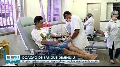 Hemocentro de Colatina, ES, precisa de doação de sangue - Número de doações caiu 40%.