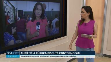 Audiência pública sobre Contorno Sul - Moradores participam de audiência pública no Jardim São Silvestre