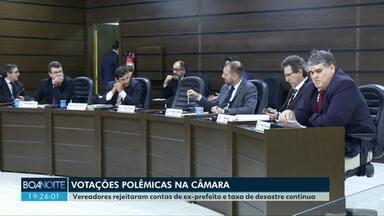 Câmara Municipal de Cascavel vota projetos polêmicos - Vereadores discutiram a cobrança da taxa de desastres e parecer do TCE sobre as contas do ex-prefeito Edgar Bueno.