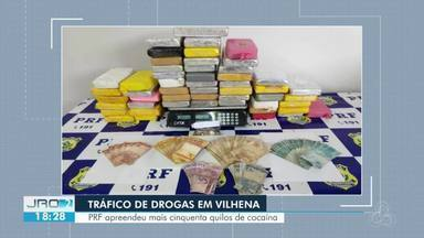 PRF apreende mais de cinquenta quilos de cocaína, em Vilhena - A apreensão aconteceu na tarde desta segunda-feira (12).