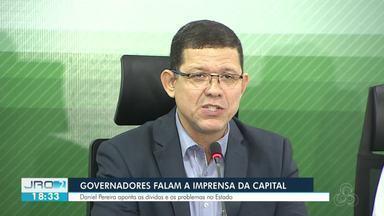 Governador Daniel Pereira e Governador eleito Marcos Rocha falam de transição de governo - Os dois falaram juntos pela primeira vez em uma coletiva de imprensa.