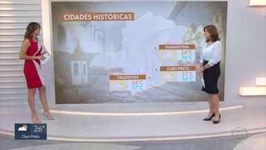 Meteorologia prevê chuva durante feriado prolongado em várias regiões de Minas - As regiões Sul, Zona da Mata, Centro, Alto Paranaíba e Noroeste devem ter fim de semana com chuva. Veja a previsão do tempo com Gislaine Ferreira.