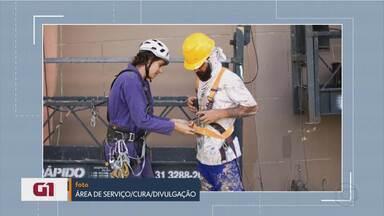 G1 mostra jornalista que faz pintura em prédios e fala sobre segurança nas alturas - Veja a reportagem especial no G1 Minas.