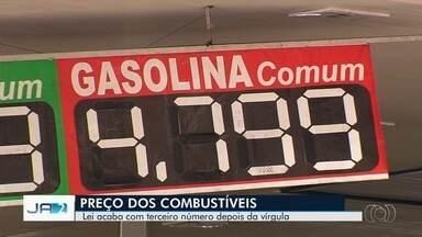 Assembleia aprova lei que prevê preços dos combustíveis com só 2 dígitos após a vírgula - Medida ainda precisa ser sancionada pelo Governo de Goiás.