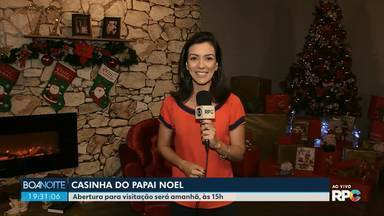 Casinha do Papai Noel abre para visitação nesta sexta-feira - A abertura vai ser nesta sexta-feira, às 15h.