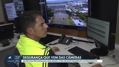 Câmeras de segurança agilizam ações da PM no centro de Brasília - Em alguns casos, é possível até prevenir ações criminosas, afirma a Polícia Militar