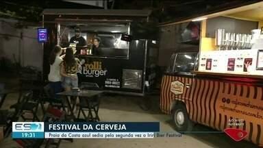 Praia da Costa azul sedia pela segunda vez o Iriri Bier Festival - Festival movimenta a região.
