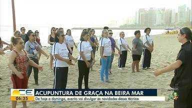 Acupuntura é oferecida de graça na Av. Beira Mar - Até domingo, dia 18, evento vai divulgar técnicas e novidades da técnica