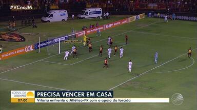 Torcedor do Vitória mantém otimismo e não acredita que o time seja rebaixado - Rubro-negro baiano está na zona de perigo do Campeonato Brasileiro e tem uma sequência complicada de jogos.