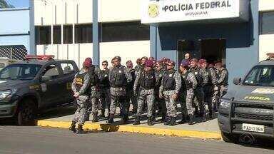 Cidades do RS que fazem fronteira com Uruguai e Argentina recebem reforço na segurança - São 42 policiais da Força Nacional que atuam a partir desta sexta-feira (16) em Uruguaiana e Santana do Livramento.