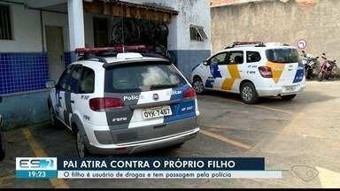 Pai é suspeito de atirar contra o filho em Colatina, ES - Filho é usuário de drogas.