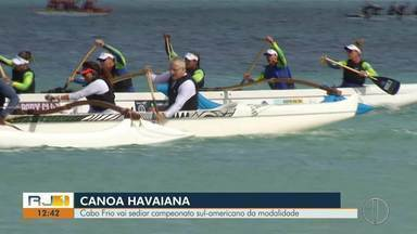 Cabo Frio vai sediar campeonato sul-americano da modalidade de canoa havaiana - Assista a seguir.