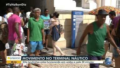 Terminal Náutico de Salvador tem movimento tranquilo neste sábado (17) - Oito lanchas estão operando neste fim de semana.