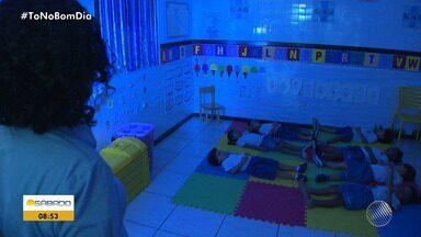 Meditação ajuda alunos no processo de aprendizagem em Salvador - A prática de exercícios são oferecidos para alunos desde o nível infantil.