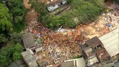 O drama do desmoronamento em Niterói