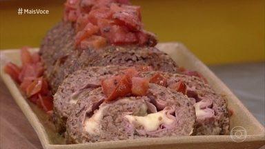 Ana Maria prepara Bolo de Carne Pizzaiolo - Confira a receita!