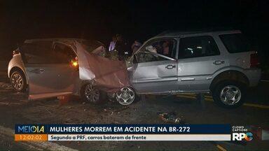 Mulheres morrem em acidente na BR-277 - Segundo a Polícia Rodoviária, os carros bateram de frente