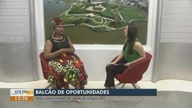 Balcão de Oportunidades: vendas de artigos afro chamam a atenção e são alternativa - Quadro entrevistou a empresária Rejane Soares que tem uma linha de acessórios.