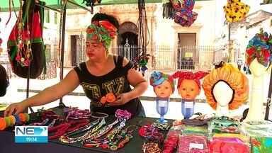 Dia da Consciência Negra é celebrado com feira afroempreendedora no Recife - Evento ocorreu no Pátio de São Pedro.
