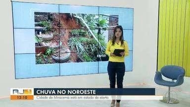 Cidade de Miracema, RJ, está em estado de alerta - Assista a seguir.