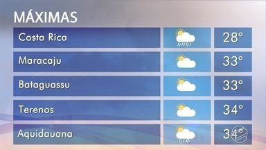 Confira a previsão do tempo para Mato Grosso do Sul nesta quarta-feira - Bom Dia MS apresenta a previsão para todas as regiões do estado.