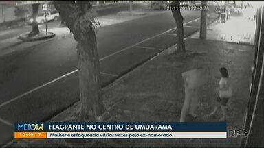 Mulher esfaqueada em Umuarama por ex - namorado se recupera bem - Polícia procura por agressor.