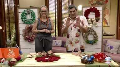Artesã ensina a fazer guirlandas de Natal - Guirlanda de juta é uma boa opção para decorar a porta de casa
