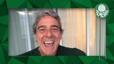 Palmeirenses famosos comemoram o título do Campeonato Brasileiro - Alexandre Borges, Edson Celulari, Adriane Galisteu, Munhoz, Di Ferrero e Sergio Reis comemoram 10º título do Palmeiras do Campeonato Brasileiro.