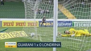 Guarani vence o Londrina por 1 a 0 - Foi a última rodada da Série B.