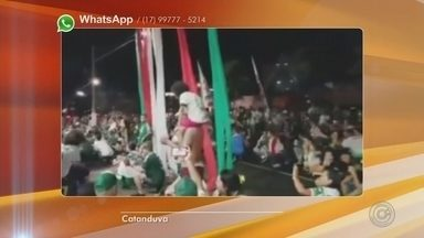 Comemoração do título do Palmeiras termina em confusão em Catanduva - Em Catanduva (SP), neste domingo (25) teve confusão depois da vitória do Palmeiras, pelo Campeonato Brasileiro.