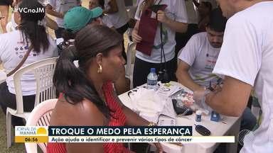 Campanha ajuda a prevenir e combater diversos tipos de câncer - Ação aconteceu no domingo (25), no Parque da Cidade, em Salvador.